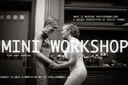 Mini Wedding Workshop , St.Ives, Cornwall, UK - Philip Thomas, Photographer